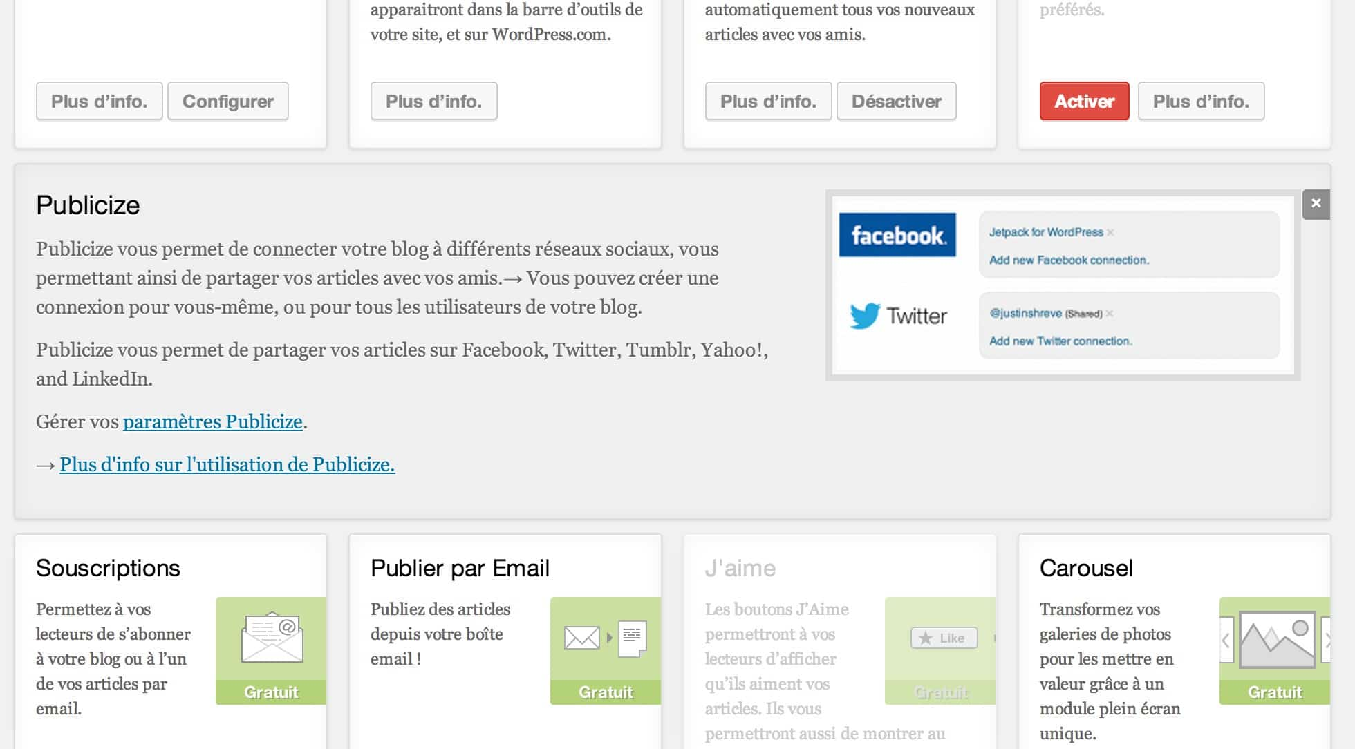 jetpack publicize wordpress