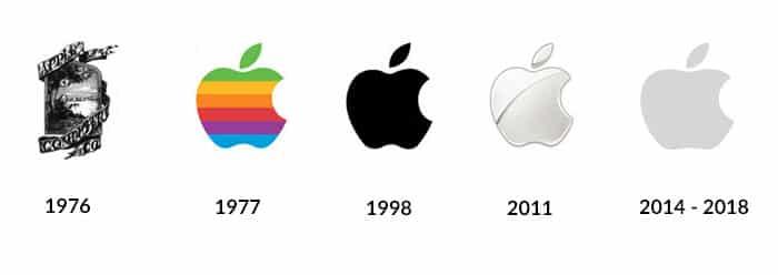 11 evolution logo Apple flat design