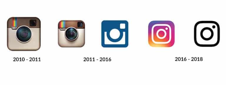 12 evolution logo Instagram flat design 768x288 1