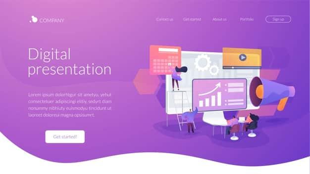 digital presentation landing page template 335657 943